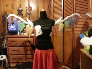 I still haven't made a proper wing harness...I really need to do that